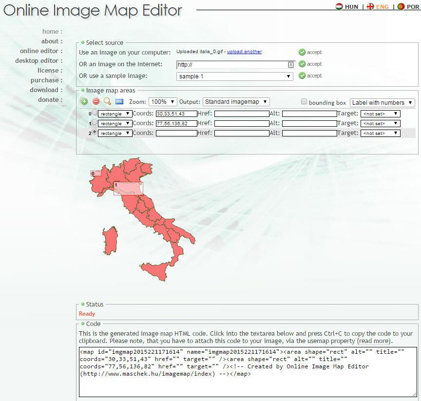 Cartina Italia Cliccabile Html.Programmiamo